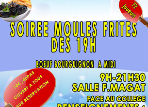 Tennis de table : soirée moules/frites