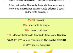 50 ans du Tennis de Table Montrondais